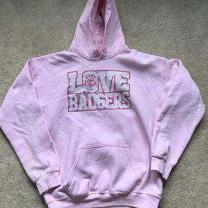 Pink Wisconsin Badgers Sweatshirt